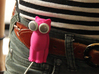 Kitty Cat Earbud Storage Case 3d printed A pink Bud-E kitty hanging on a belt.