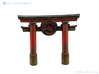 Dragon Torii Gate - BATTLEGROUND HD 3d printed Dragon Torii Gate painted