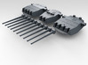 "1/700 HMS King George V 14"" Turrets 1942 3d printed 3D render showing set"