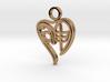 Personalised Zodiac Monkey Heart Charm 3d printed Personalised Zodiac Monkey Heart Charm