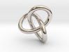 Math Art - Gordian Knot  Pendant 3d printed