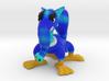 Random Blue Furry Monster 3d printed