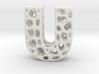 Voronoi Letter ( alphabet ) U 3d printed