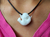 Cat with Yarn Charm  3d printed