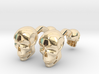 Volumatik Cufflinks Skull 3d printed
