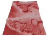 Mars Map: Martian Meanders - Red 3d printed