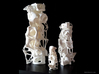 """Advected Structure  3d printed 4"""", 8"""" and 12"""" shown"""