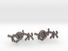 "Hebrew Name Cufflinks - ""Eliezer"" 3d printed"
