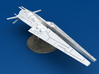Galactic Scout Ship, New Albion 3d printed Size Comparison to U.S. Quarter, Front 3/4