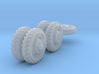 1-72 8-25x20 Early Tire White Scout Car Set1 3d printed