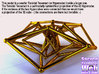 Sacred Geometry: Toroidal Hypercube Double 50mm 3d printed Render