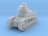 PV06C Renault FT MG Cast Turret (1/87) 3d printed
