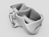 The Inversion Mugs (two) 3d printed View of Inversion