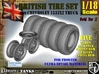1-18 Chevy LRDG Tire And Rims For FUD 3d printed
