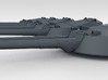 "1/350 RN WW1 13.5"" MKV Guns x4 HMS Tiger 3d printed 3d render showing turret detail"