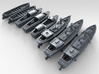 1/600 WW2 RN Boat Set 4 Without Mounts 3d printed 3d render showing product detail