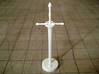Role Playing Counter: Bastard Sword 3d printed Bastard Sword in Strong & Flexible Plastic (Polished White)