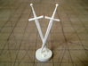 Role Playing Counter: Double Swords 3d printed Double Sword in Strong & Flexible Plastic (Polished White)