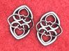 Heart Motif Earring 3d printed Heart motif earrings. NOTE: Order 2 for a pair.