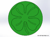 Four Leaf Clover Wax Seal 3d printed This is what the wax will look like