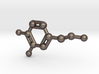 Dopamine Molecule Keychain 3d printed