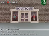Boutique front (N 1:160) 3d printed