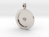 Circumpunct Dot Circle symbolic Jewelry Pendant 3d printed