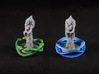 Conan Halos - 25mm (2-4 pcs) 3d printed Hand painted White Strong Flexible. Miniature copyright Monolith