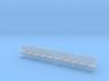 TJ-H04553x2 - bancs de quai 5 places avec dossier 3d printed