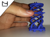 Twister / Spiral 3d printed WS&F in Blue