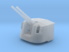 """1/350 4.7"""" MKXII CPXIX Twin Mount x4 40º 3d printed 1/350 4.7"""" MKXII CPXIX Twin Mount x4 40º"""