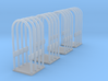 1/64 or S Scale Tire Cage-4 3d printed