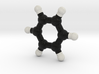 Benzene molecule model. 3 Sizes. 3d printed