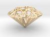 Diamond necklace pendant 3d printed