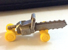 Chainsaw Car, Prize Size, Part A (Chassis) 3d printed Both parts of the kits combined, yellow S&F undercarriage, stainless steel chassis.