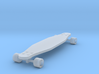 1/24 Scale Long Board  (Wheel Cutout) 3d printed