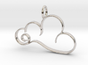 Curvy Cloud Pendant Charm 3d printed