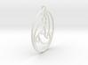 Gothic Triskel Pendant 3d printed