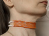 Ladder Chain 1 3d printed Close fitting choker with spring fastening