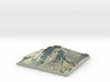 """Mount St. Helens Map: 9"""" 3d printed"""