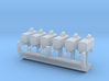 1:700 Scale WWII USAAF Airfield Control Vans (6x) 3d printed
