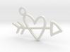 Heart & Arrow Charm! 3d printed