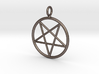 Overturned pentagram necklance (simple) 3d printed