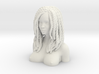 African hairstyle woman head 3d printed
