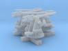 "1/500 RN 4""/45 (10.2 cm) QF MKV MKIII x4 3d printed 1/500 RN 4""/45 (10.2 cm) QF MKV MKIII x4"