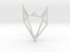 Geometric Fox Pendant 3d printed