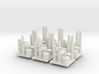 Oil Refinery Set Of 6 3d printed