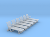 Deck Chair 01. HO Scale (1:87) 3d printed