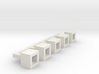 Betonblumenkübel quadratisch DDR 5er Set 1:120 3d printed