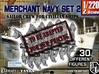 1-220 Merchant Navy Crew Set2 3d printed